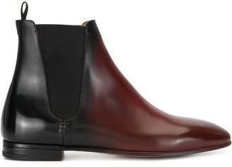 Francesco Russo Two-Tone Ankle Boots