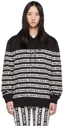 Balmain Black and White Logo Hoodie