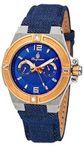 Burgmeister Men's Quartz Stainless Steel and Canvas Casual Watch, Color:Blue (Model: BM220-933-1)