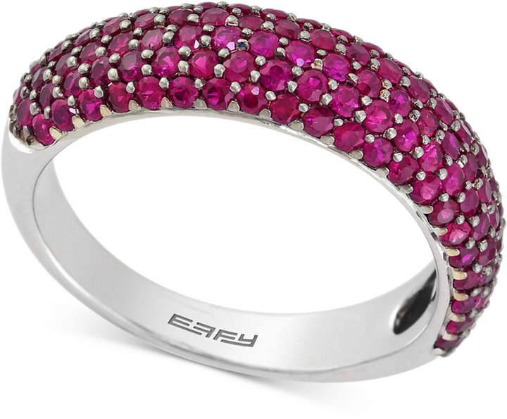 Effy Final Call Ruby Pave Ring (1-1/2 ct. t.w.) in 14k White Gold