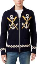 Tommy Hilfiger Mens Naval Themed Long Sleeve Full Zip Sweater L