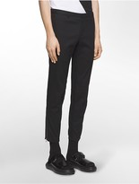 Calvin Klein Platinum Super Skinny Fit Pique Textured Ankle-Zip Biker Pants