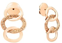 Pomellato 18K Rose Gold Brera Brown Diamond Drop Earrings