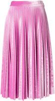 MSGM velvet pleated skirt
