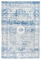 nuLoom Vintage Medallion Lela Blue Rug