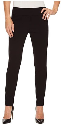 Elliott Lauren Control Stretch Pull-On Ankle Pants with Back Slit Detail (Black) Women's Casual Pants