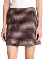 Theory Kerash Printed Mini Skirt