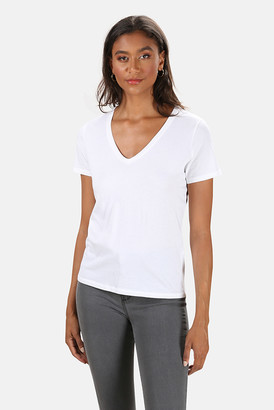 Majestic Filatures Cotton Silk V Neck Tee