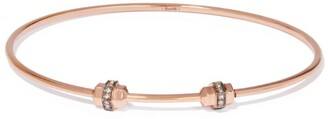 Annoushka Rose Gold and Sapphire Mythology Charm Bangle (Medium/Large)