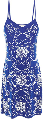 MICHAEL Michael Kors Studded Stretch-jersey Mini Dress