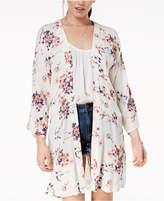 Roxy Juniors' Floral-Print Kimono