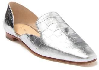 Via Spiga Allese Alligator Embossed Leather d'Orsay Loafer