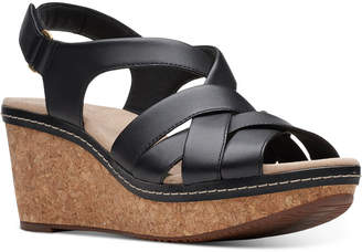 Clarks Collection Women Annadel Rayna Wedge Sandals Women Shoes