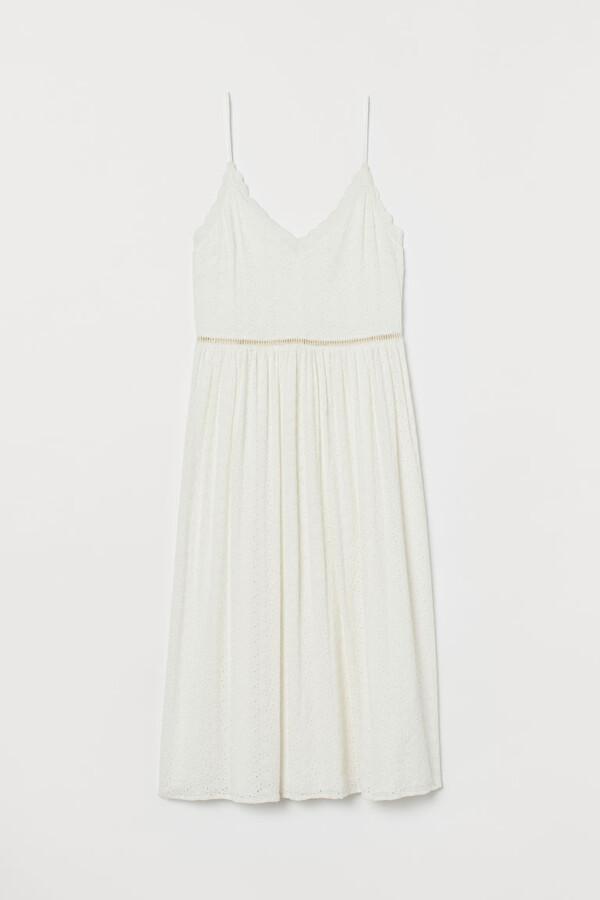 H&M Eyelet Embroidery Dress - White