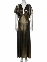 Thumbnail for your product : Maria Lucia Hohan V-Neck Long Dress w/ Tags Gold