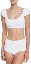 Marysia Swim Mexico High-Waist Swim Bottom, White