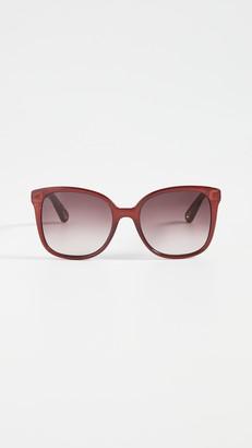Chloé Elize Acetate Square Sunglasses
