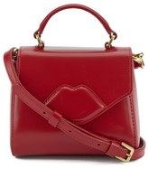 Lulu Guinness Women's Izzy Mini Lip Crossbody Red