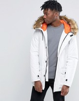 D-struct Faux Fur Trimmed Parka Jacket
