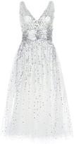 Marchesa Sequin Embellished Flared Dress