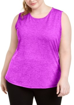 Ideology Plus Size Keyhole-Back Tank Top, Created for Macy's