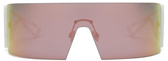 Christian Dior Kaleidiorscopic Rubberised-acetate Sunglasses - Womens - White Multi