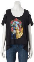Disney Disney's Beauty and the Beast Juniors' Cold-Shoulder Graphic Tee