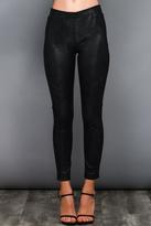 Do & Be Black Coated Leggings