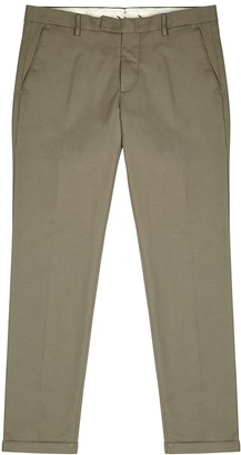 NN07 Dark stone stretch-cotton chinos