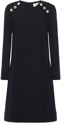 Goat Irma Button-embellished Wool-crepe Dress