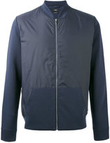HUGO BOSS panel bomber jacket - men - Cotton/Nylon/Polyamide - S