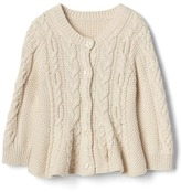 Gap Cable knit peplum cardigan