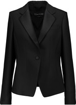 Tom Ford Satin-trimmed wool and silk-blend crepe blazer