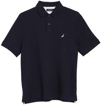Nautica Solid Interlock Short Sleeve Polo
