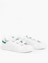 adidas White Leather Stan Smith CF Sneakers