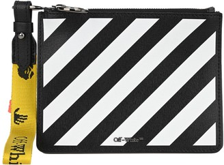Off-White Diagonal Logo Clutch Bag