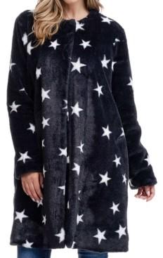 Fever Stars Faux Fur Coat