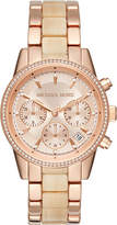 Michael Kors MK6493 Ritz crystal-encrusted stainless steel watch