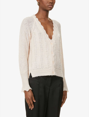 3.1 Phillip Lim Scalloped trim alpaca-blend cardigan