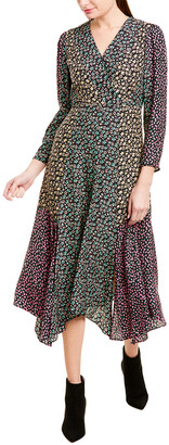 Rebecca Taylor Louisa Silk Midi Dress