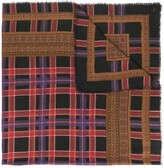Saint Laurent Pre Owned plaid frayed scarf