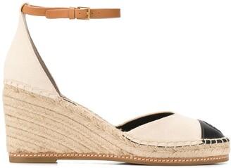 Tory Burch Colour-Block Wedge Sandals