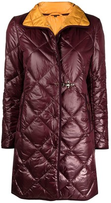 Fay Quilted Mid-Length Coat