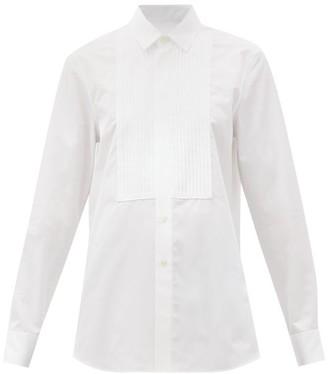 Saint Laurent Pintucked-bib Cotton-poplin Tuxedo Shirt - White