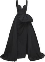 Thumbnail for your product : ZUHAIR MURAD Taffeta Sleeveless Dress W/ Side Slit