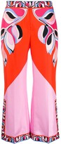 Emilio Pucci abstract-print cropped trousers