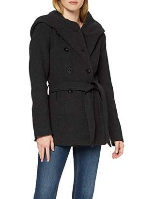 Only Women's Onllisa Rianna Short Wool Coat Cc OTW Dark Grey Melange, 10 (Size: Small)