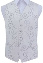 DQT Premium Scroll Men's Wedding Waistcoat - 40""