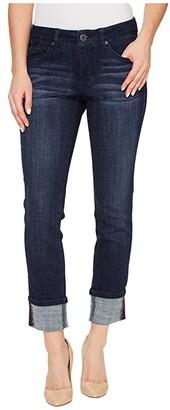 Jag Jeans Maddie Skinny Cuff Crosshatch Denim in Night Breeze