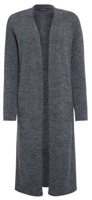 Dorothy Perkins Womens Charcoal Maxi Knitted Cardigan